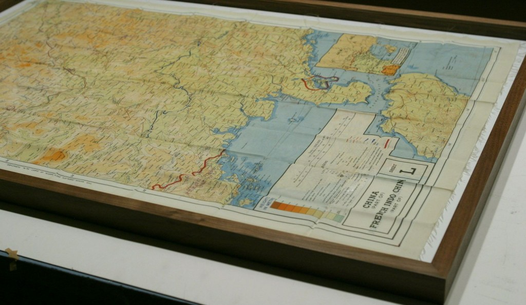 World War II Silk map