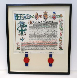 Framed Coat of Arms