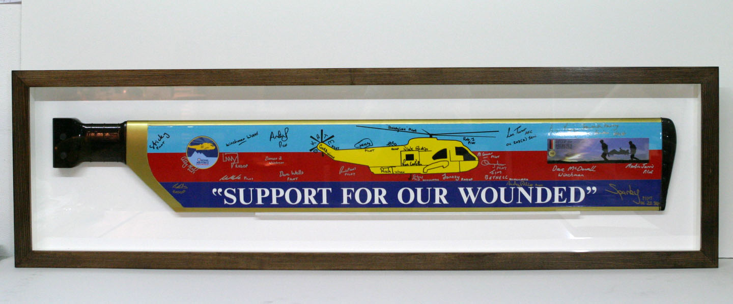 Framed Helicopter blade