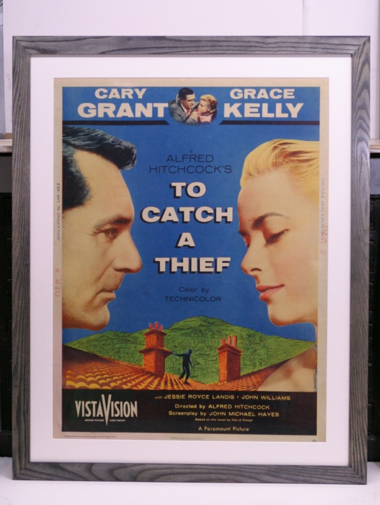 Vintage movie poster framed to conservation standards
